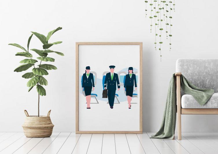 Air Hostess & Pilot
